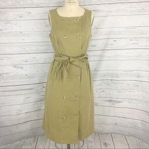 J. Crew Garment Dyed Trench wrap button dress